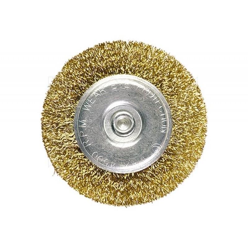 """Щётка на дрель плоская """"MATRIX"""" 75 мм (латунь)"""