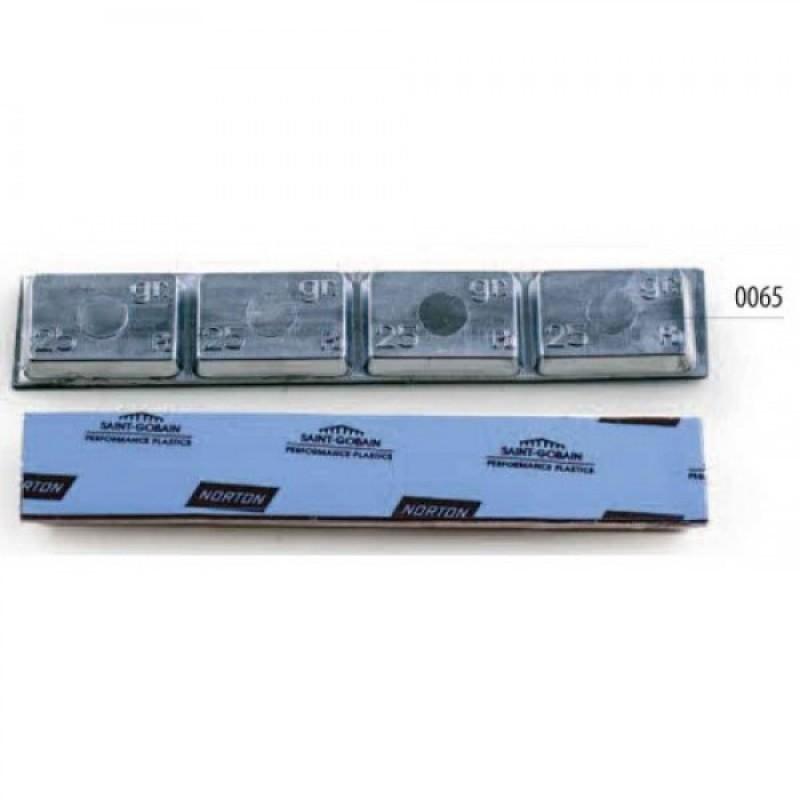 Свинцовые грузики (липучка) 100 грамм одна полоска (25 шт.) 0065