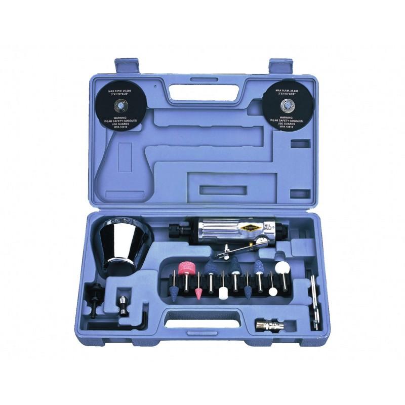 Пневмошлифмашинка 20000 об/мин. EC820020 в наборе